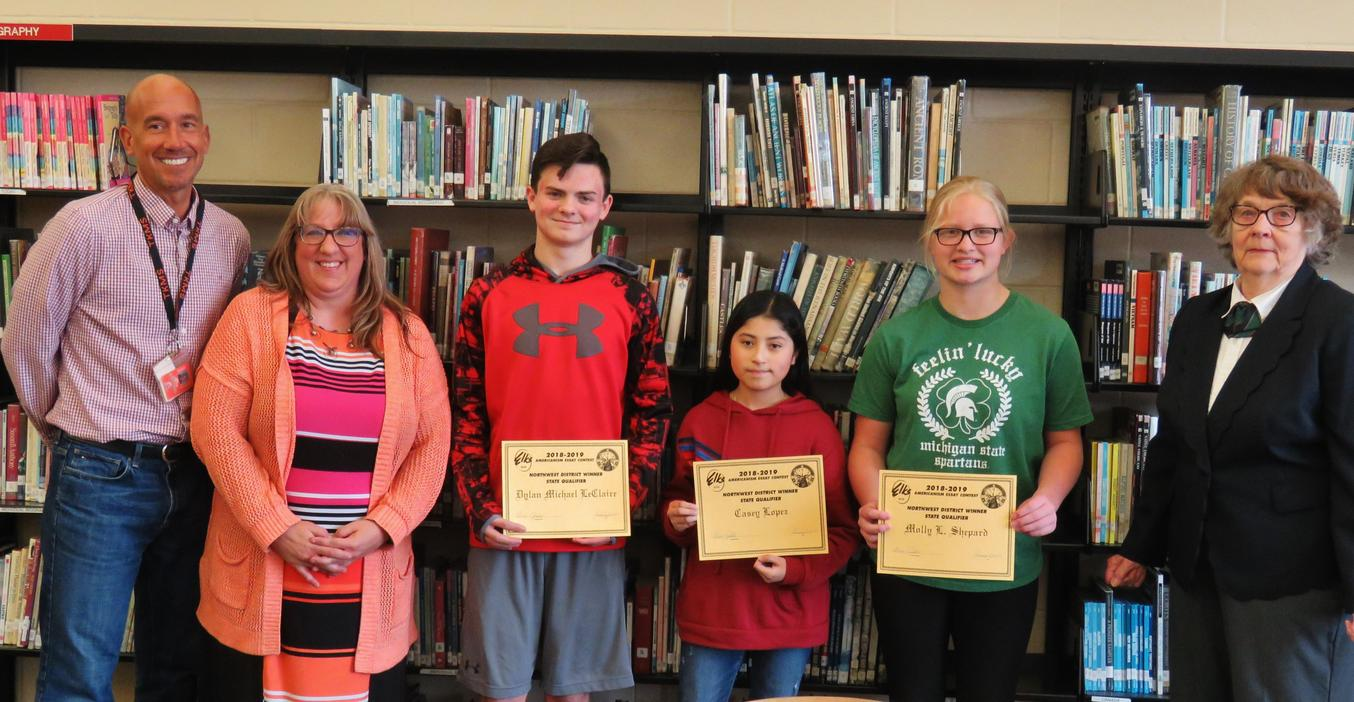 TKMS students were honored with writing awards from an Elks Lodge writing contest.
