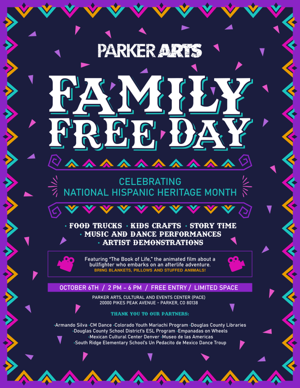 Free day flyer from Parker Arts