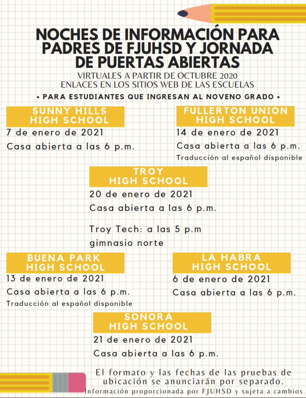 Spanish Information and Open House