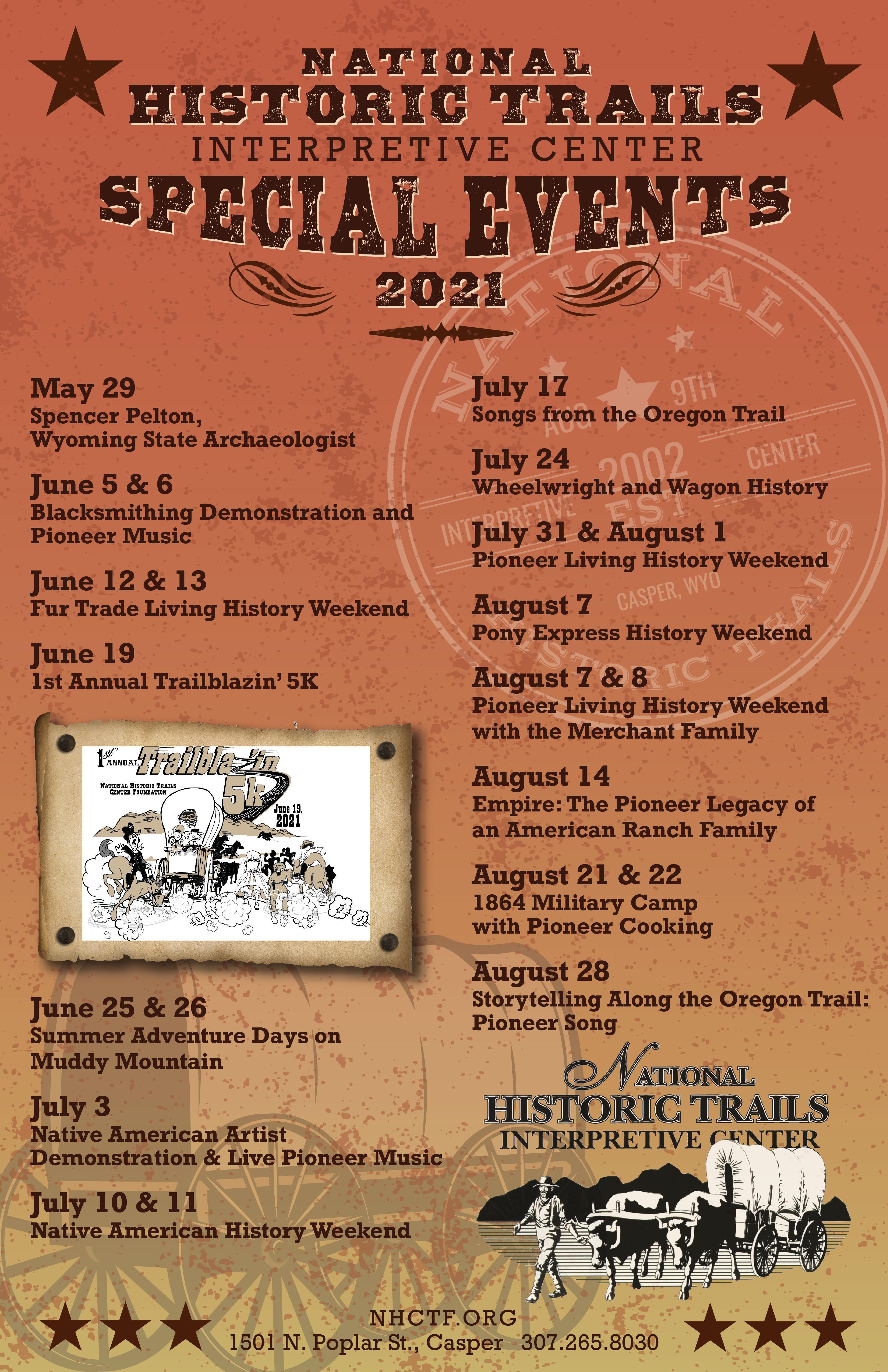 National Historic Trails Interpretive Center Special Events flyer