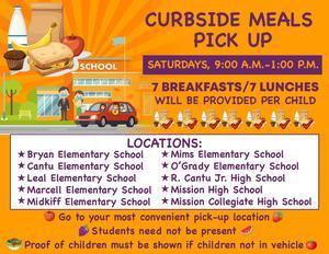 Mission CISD announces improved school meals curbside pick up program Featured Photo