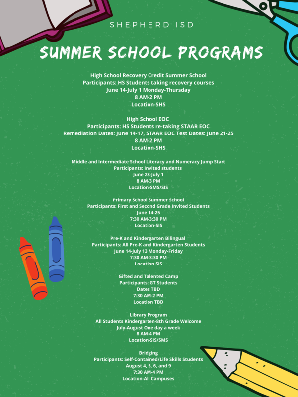 SUMMER SCHOOL PROGRAMS Featured Photo