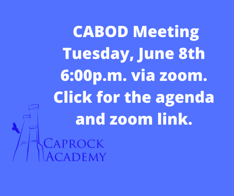 Agenda for CABOD meeting 6-8-2021