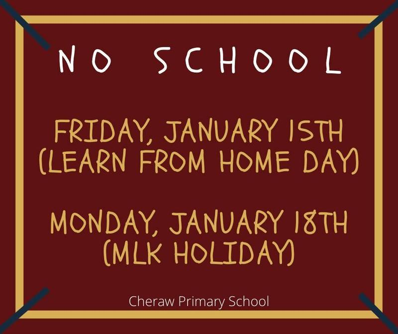 No School Friday, January 15th or Monday, January 18th Featured Photo