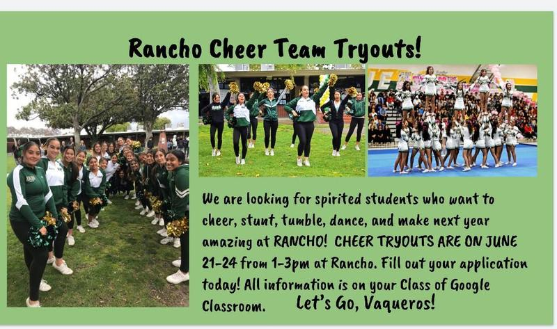 Rancho Alamitos Cheer Tryouts! Click on Athletics and find the Cheerleading Home Page for the Online application and Cheer Tryout Packet Featured Photo