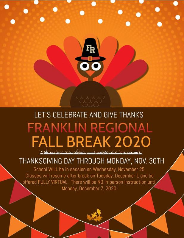 Fall Break Information/Updated 11.24.20
