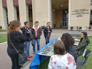 Parents getting information about Santa Clara University
