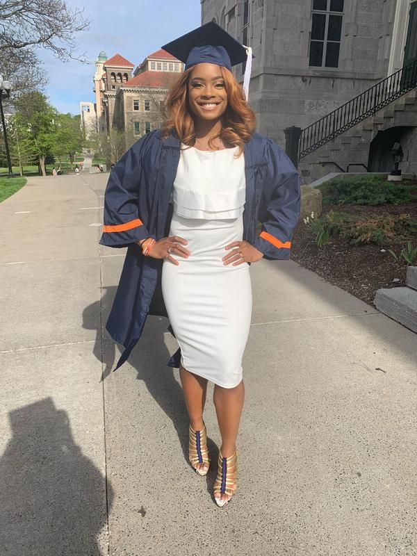 Kadejhia Sellers graduating from college