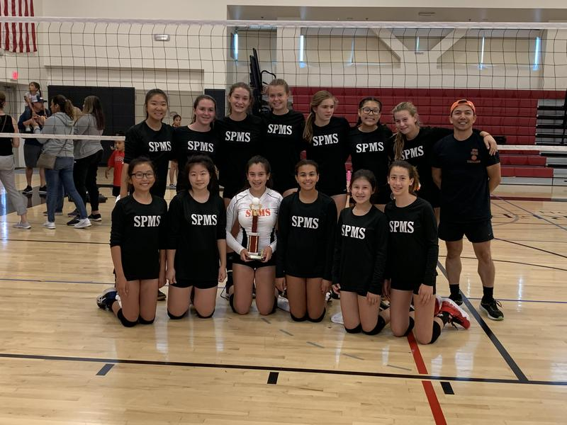 The girls 8th grade volleyball team took 1st in the Rio Hondo Prep Tournament Featured Photo