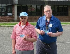 Bill and Kenn with their Senior Center cards