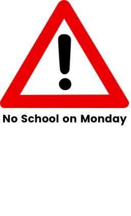 no school on monday, march 29