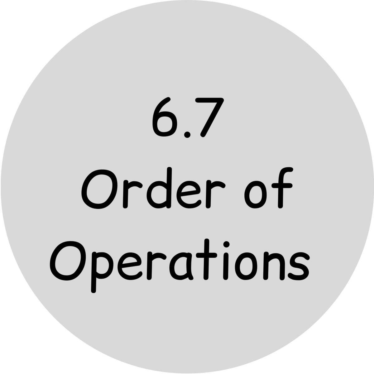 6.7 order of operations