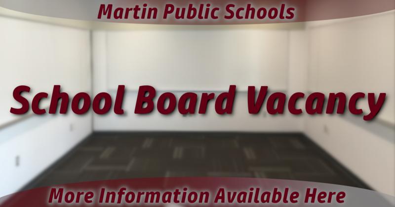 Martin School Board Vancancy