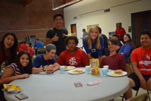 teens at lunchtable