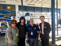 Superintendent, CBO, and Board Members attend the San Gabriel Police Satellite Station Grand Opening at Marshall Park