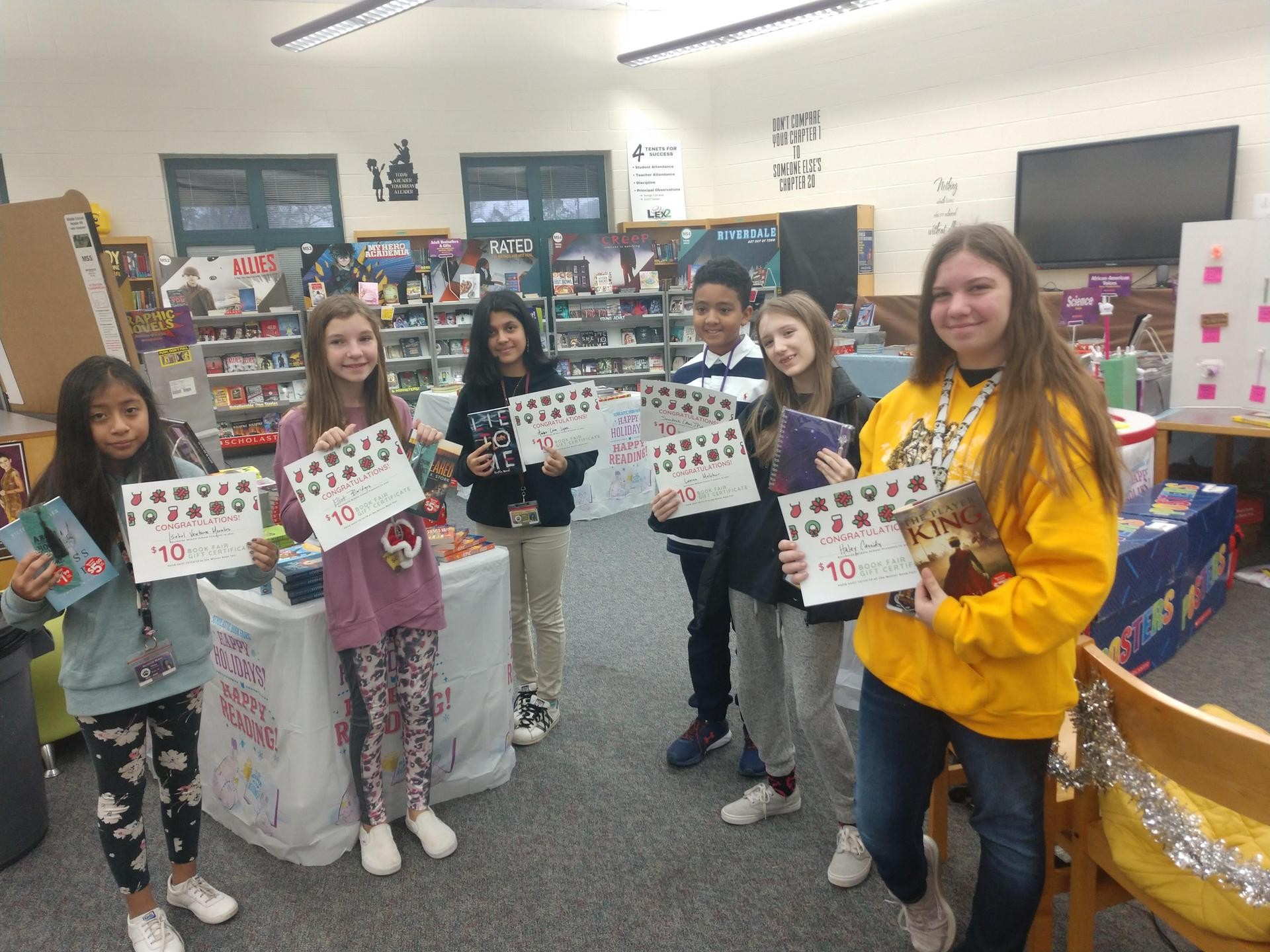 Winners of the 'Christmas at the Book Fair' contest
