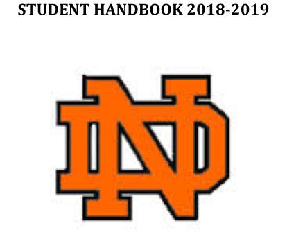Student Handbook 2018-2019 ND