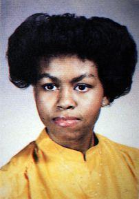 Michelle Obama high school photo