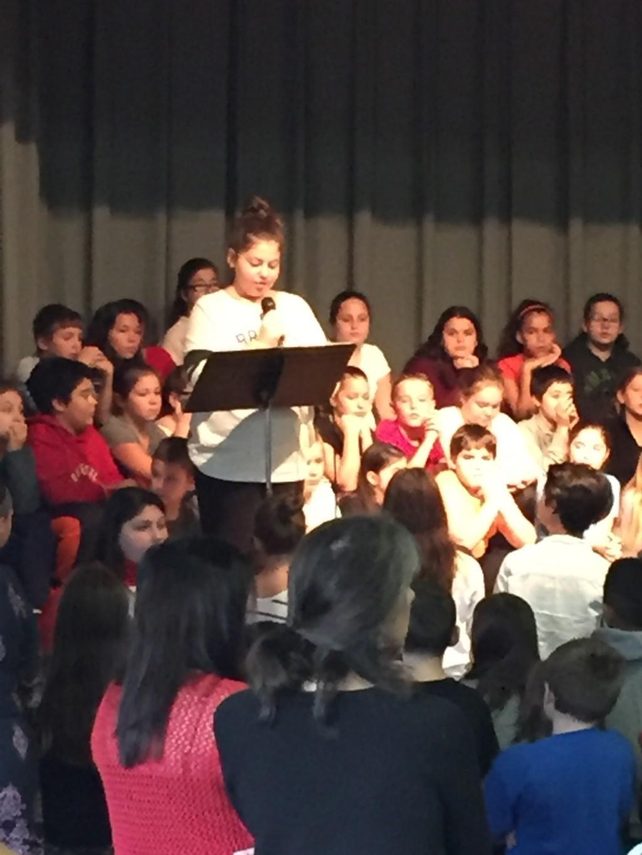 Megan A reading her poem