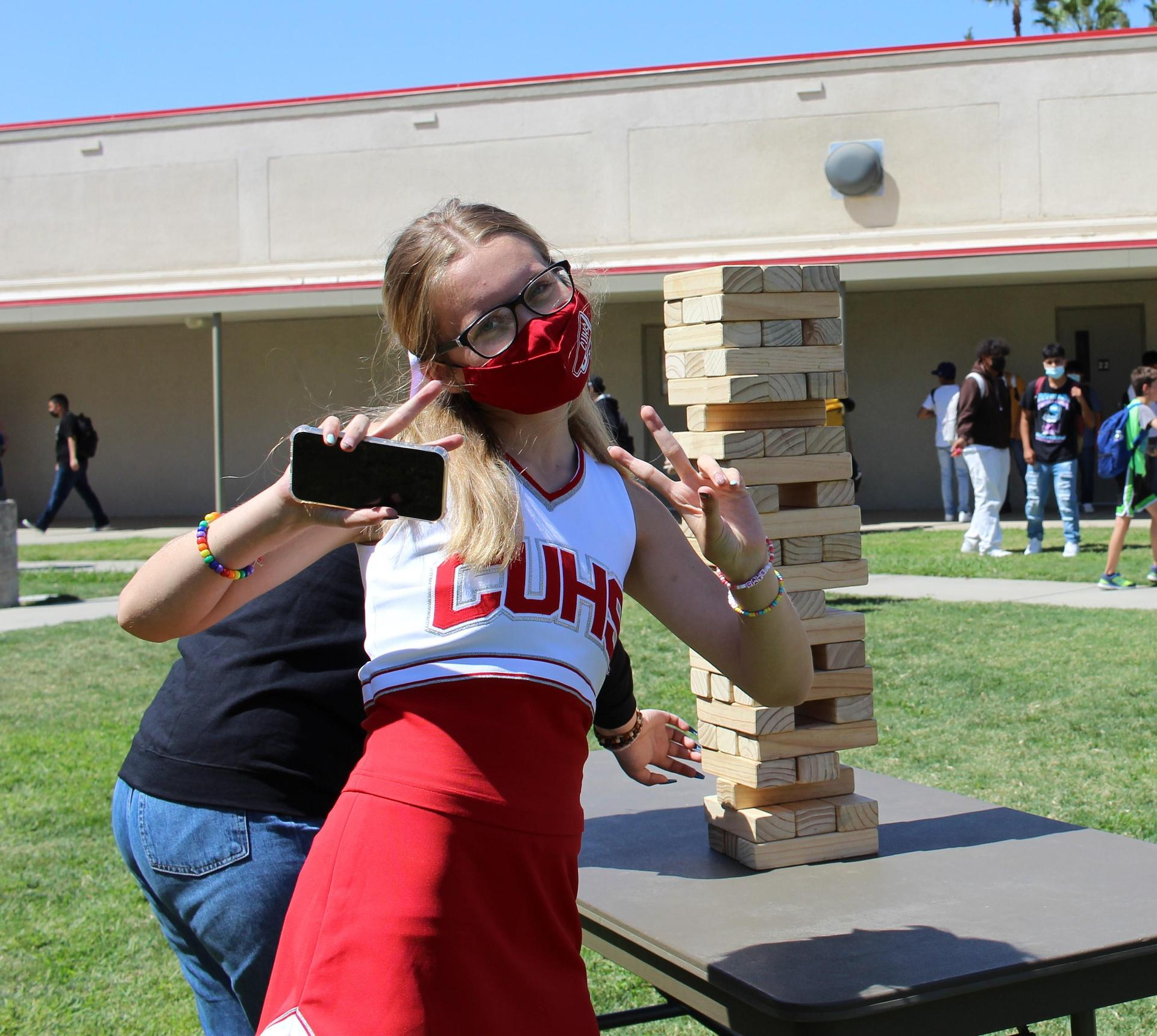 Students enjoying the lunchtime activity
