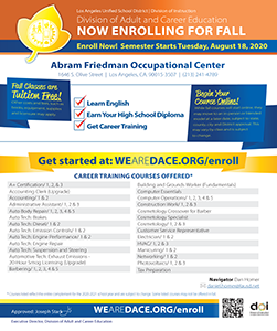 Course Offerings Flyer - Fall 2020