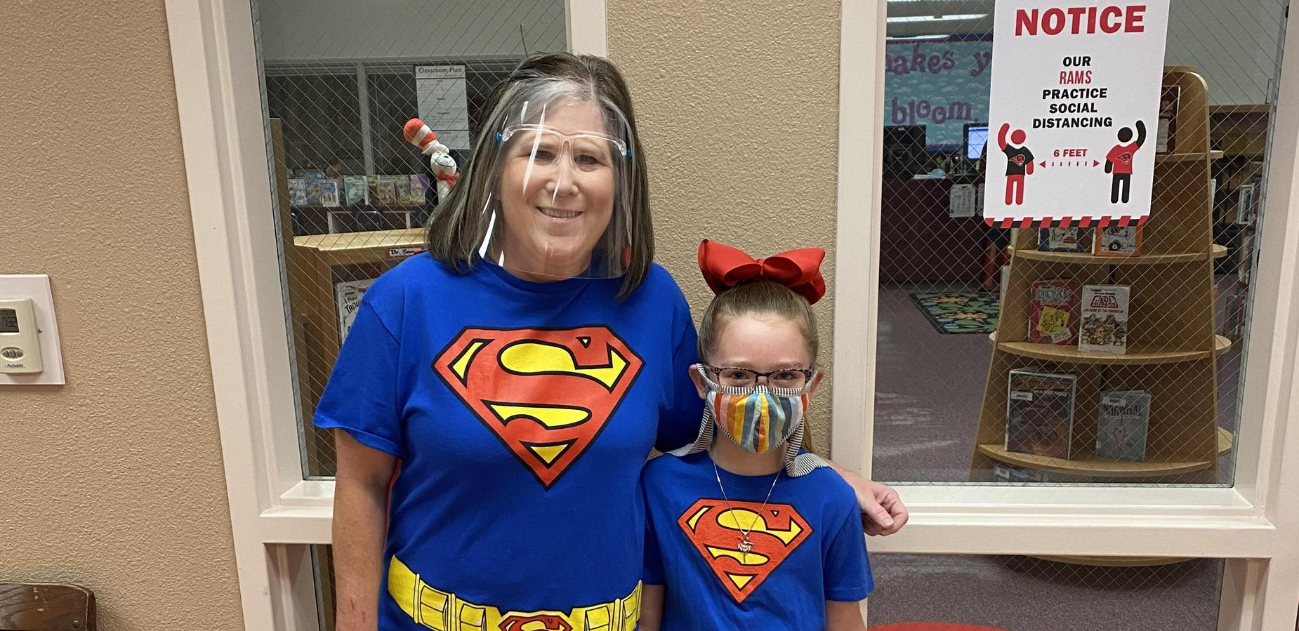 Wear superhero shirt