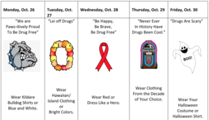 Red Ribbon Week October 26-30th