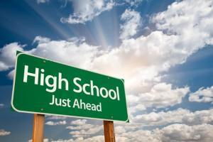 High School Just Ahead image