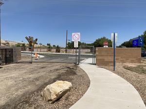 SVA main gate under construction