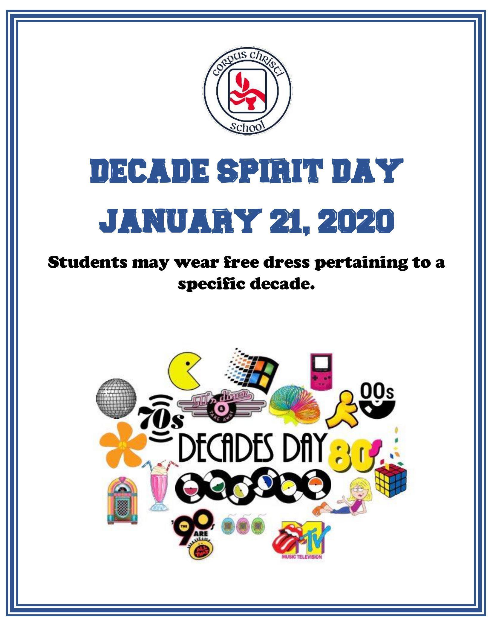 Decade Spirit Day Image