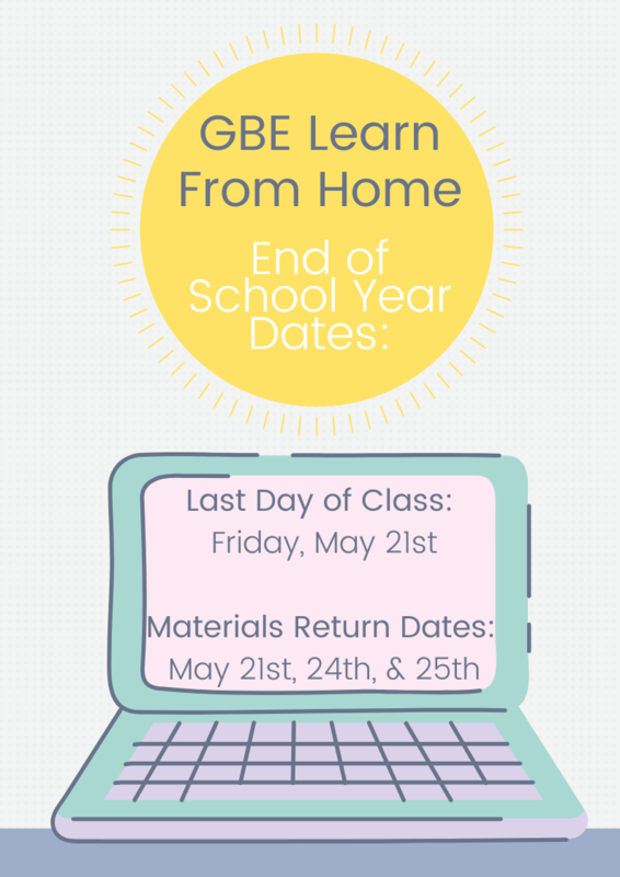 GBE LFH End of School Dates Featured Photo