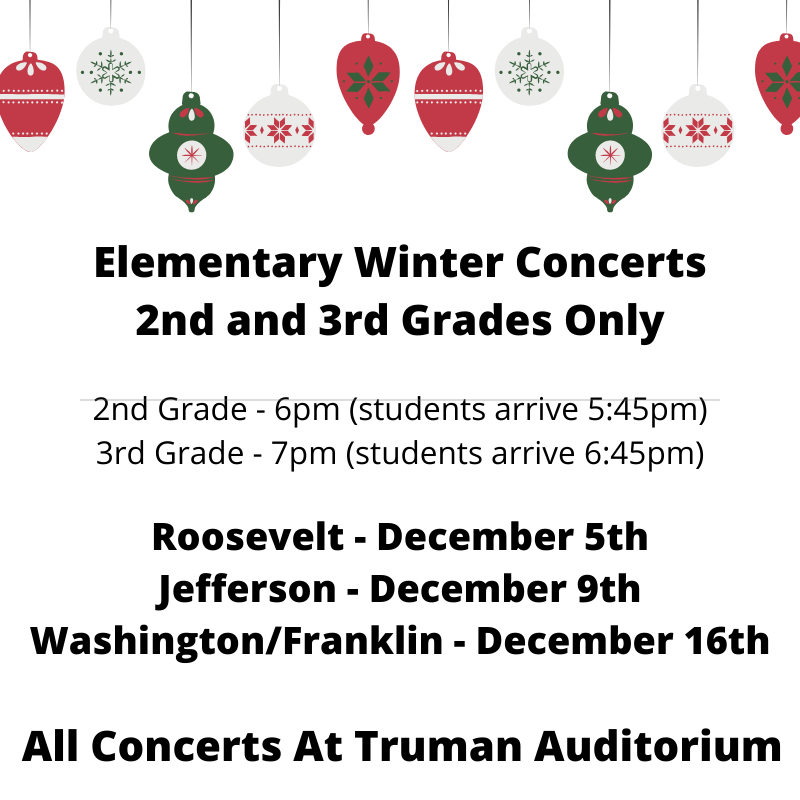 2nd and 3rd Grade Winter Concerts