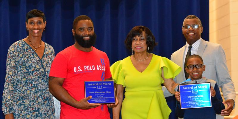Ms. Bettie Curtis honors elementary students