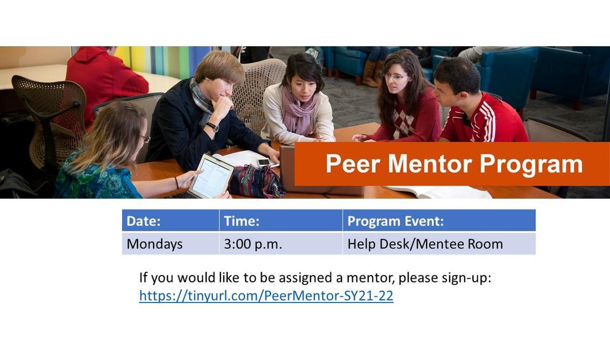 graphic - Peer Mentor Program