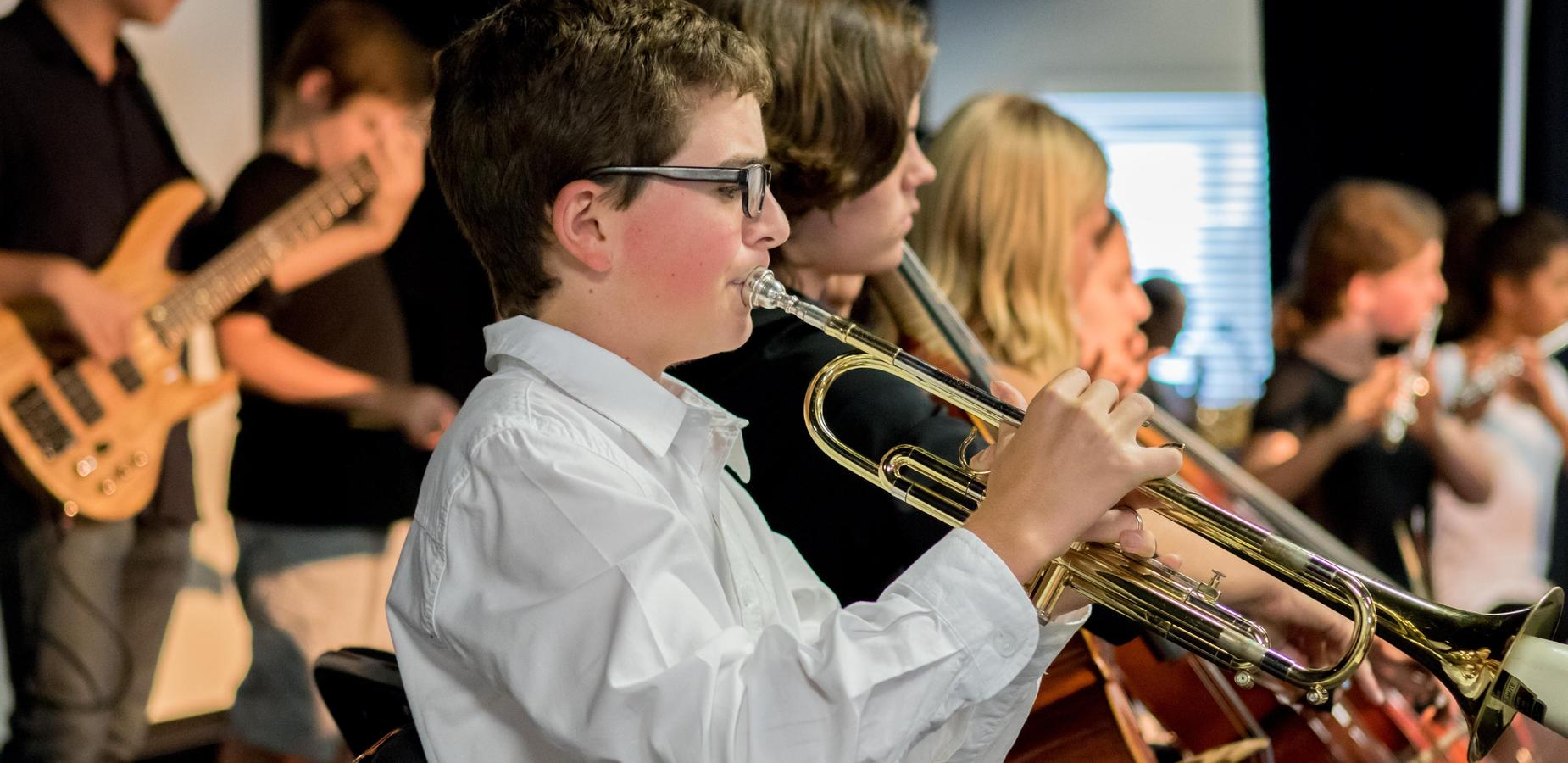 School Band Performing