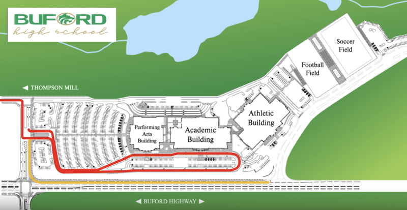 Parking & Drop-Off Information for New Buford High School Featured Photo