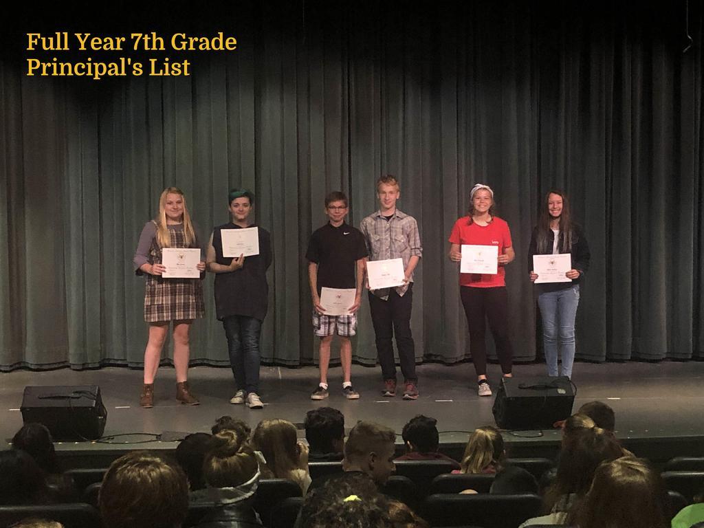 FY 7th Grade Principal's List