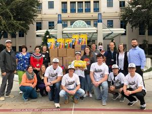 Jacket Basketball Team Joins Brody Nelson at Cook Children's