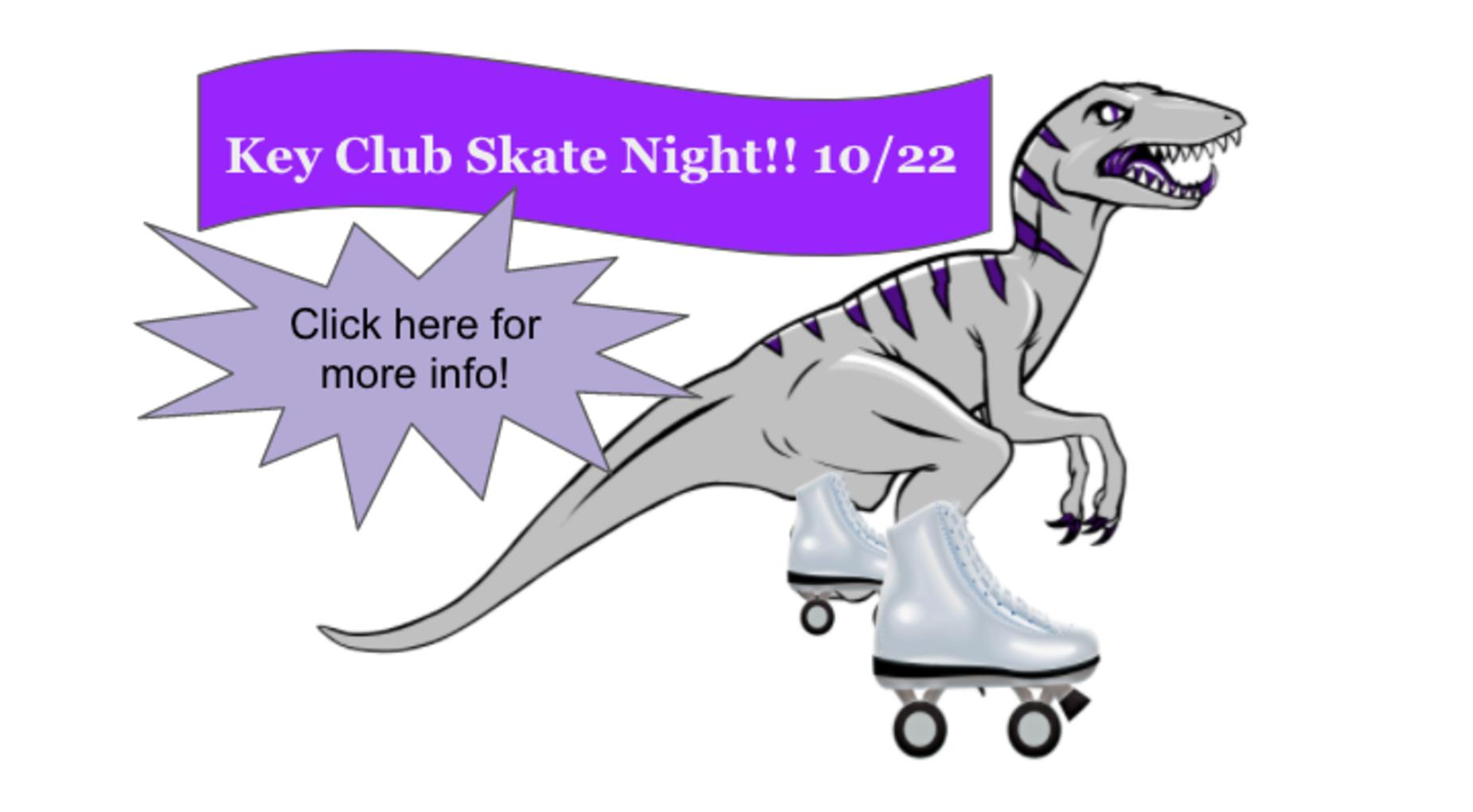 Key Club Skate Night Fundraiser- 10/22 at Playland Skate Park