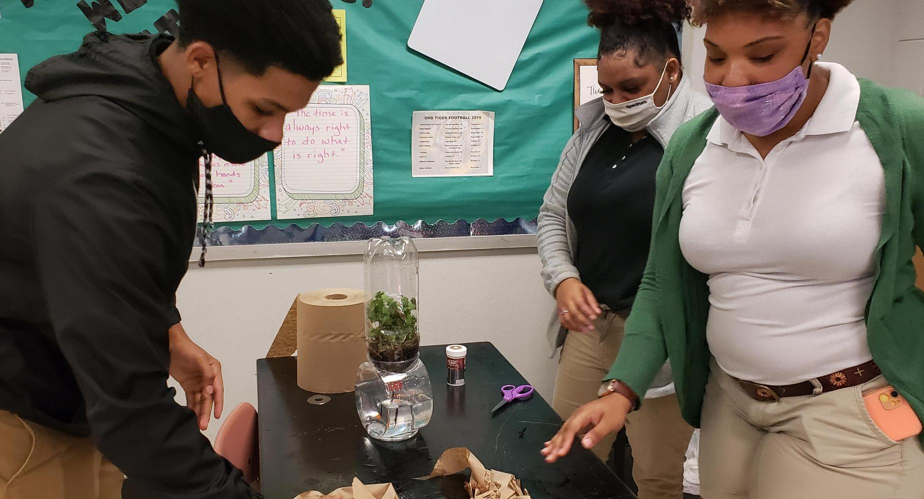 Environmental Science students build biomes