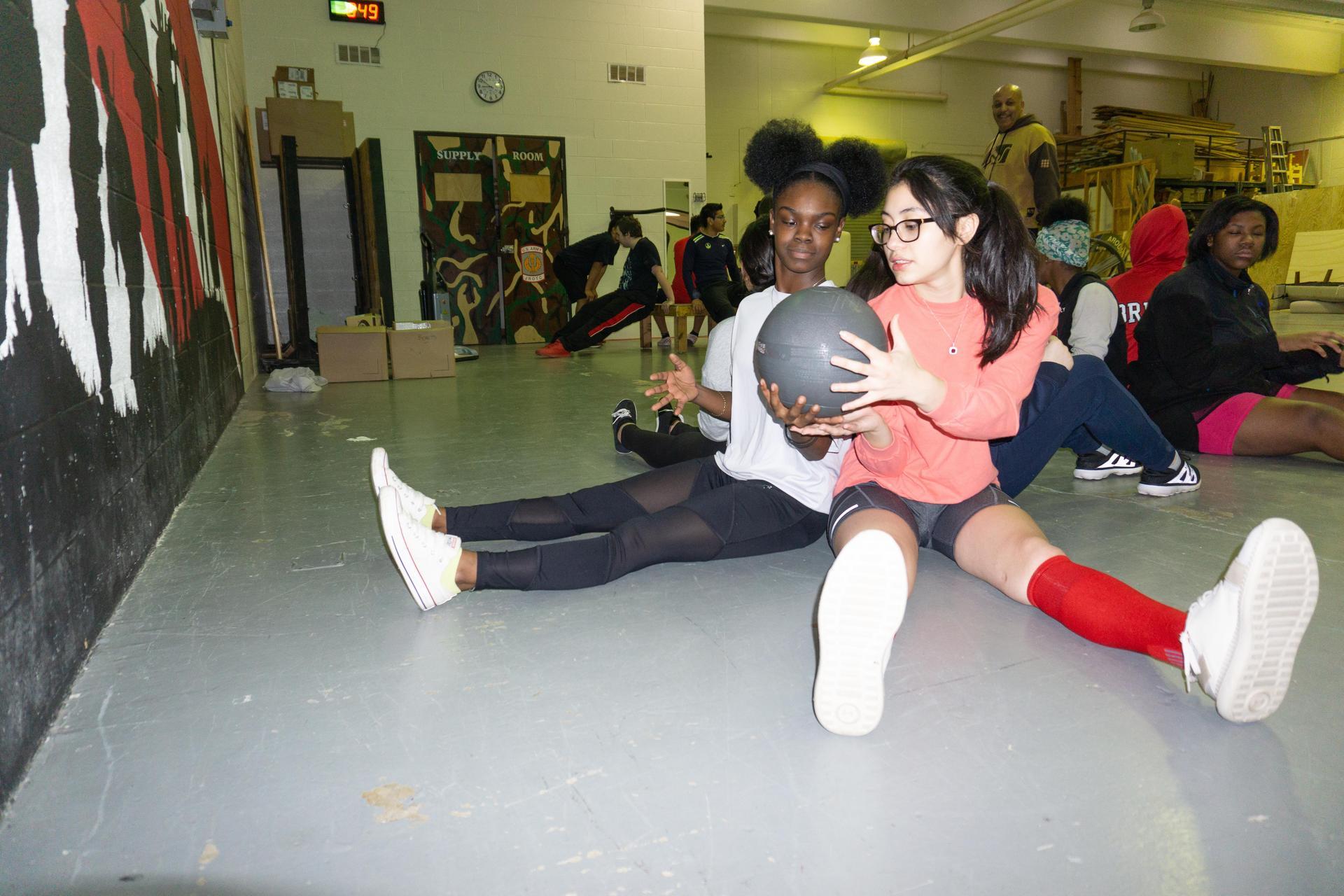 Bulldog JROTC Physical Training