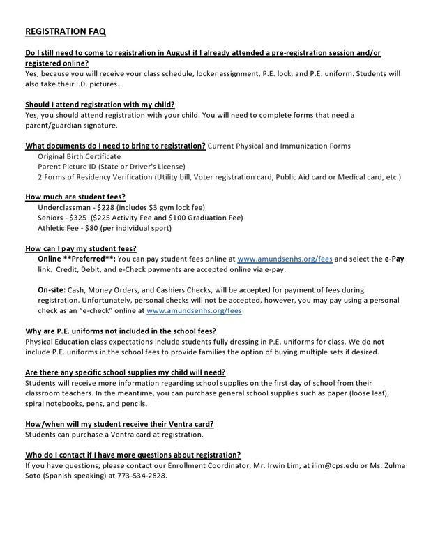 Student Registration FAQ Featured Photo