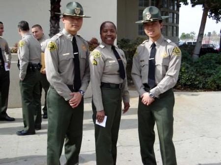 Two sheriff academy students with sheriff