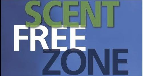text: scent free zone