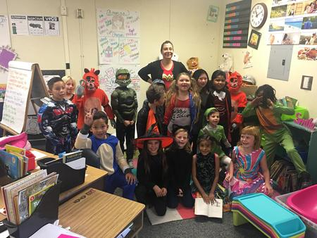 Mrs. Rojas and her class