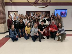 The Inaugural Chick-fil-A Leadership Program at Magnolia West High School has more than 30 members