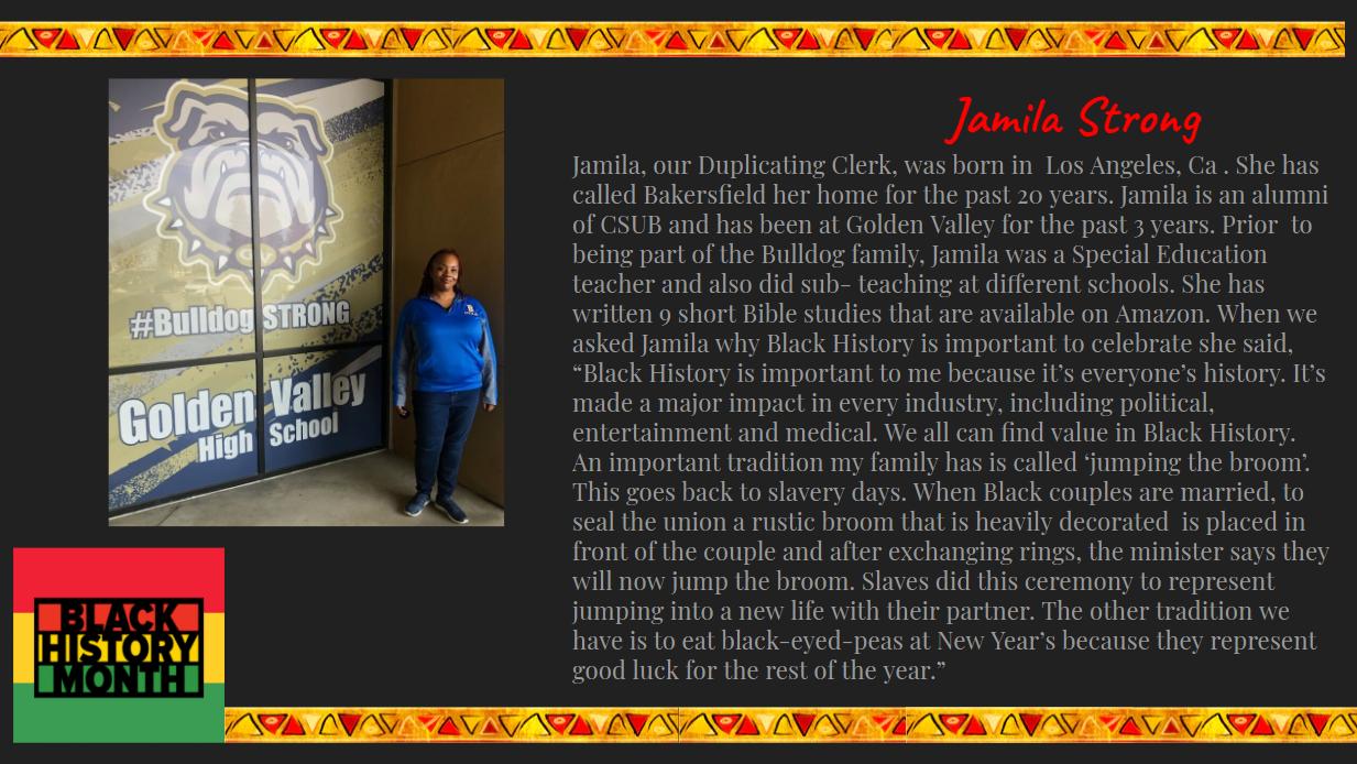 GVHS staff spotlight: Jamila Strong