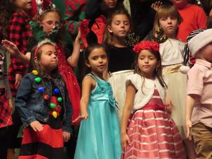 Singing at the Christmas concert