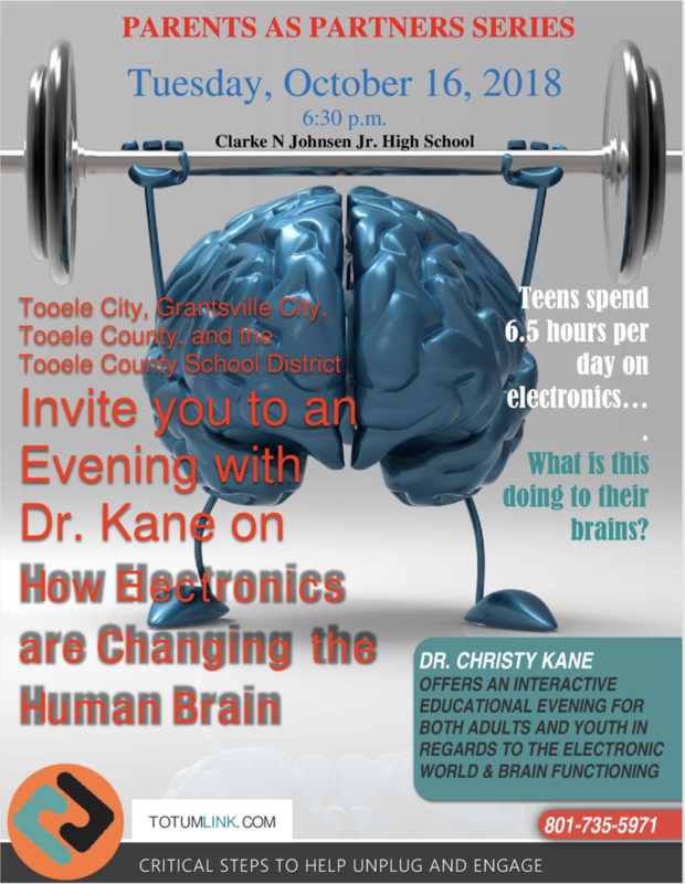 Parents as partners series flyer about how electronics affect the brain.
