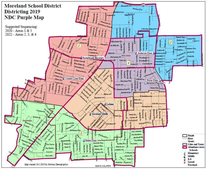 Purple Map for consideration for by-trustee election